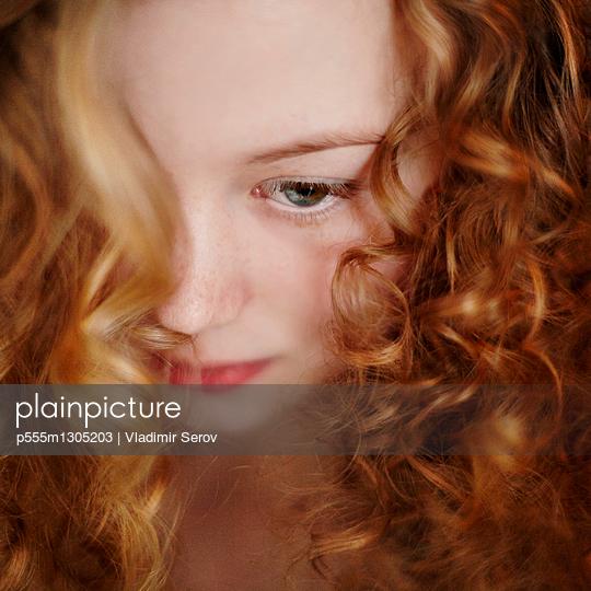 Close up of Caucasian teenage girl - p555m1305203 by Vladimir Serov