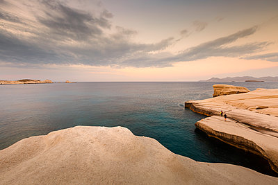 Volcanic rock formations on Sarakiniko beach on Milos island, Greece. - p1166m2151950 by Cavan Images