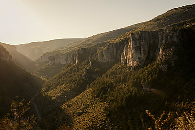 Cycling in the Cevennes - p600m2065520 by Laura Stevens