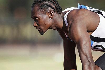 Runner Preparing To Start - p3071302f by Koji Aoki