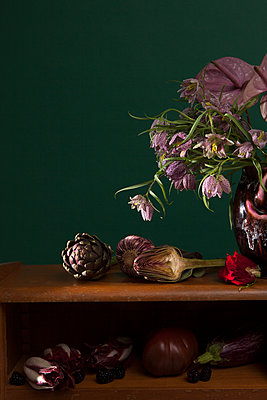 Flowers and vegetables - p1371m1573800 by virginie perocheau