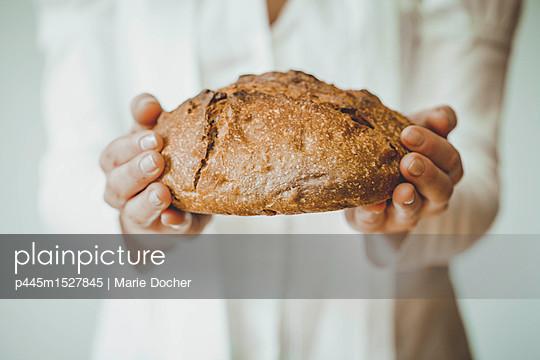 offering Bread - p445m1527845 by Marie Docher