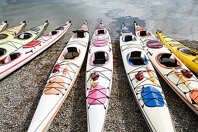 Kayaks - p9245714f by Image Source