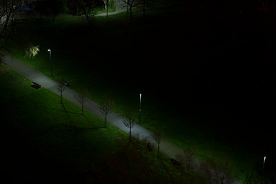 Park at night - p1291m1116133 by Marcus Bastel