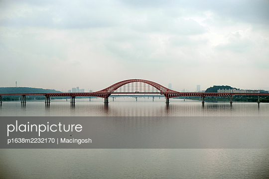 Railroad bridge in South Korea - p1638m2232170 by Macingosh