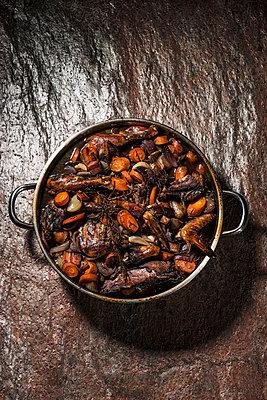Chicken dish, Coq au vine - p947m1496855 by Cristopher Civitillo