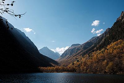 Mountain lake - p1363m2054129 by Valery Skurydin