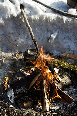 Kettle Kept On Campfire - p816m913643 by Nils-Erik Bjørholt