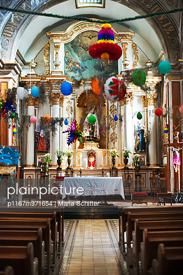 Kirche, Mexiko, Oaxaca - p1167m971654 von Maria Schiffer