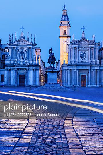 Santa Cristina and San Carlo churches at Piazza San Carlo in Turin, Italy - p1427m2077528 by Henryk Sadura