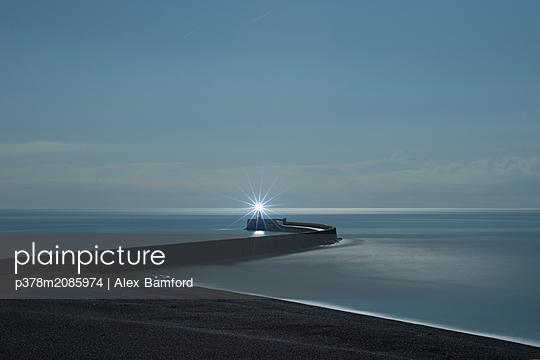 Harbour Lights - p378m2085974 by Alex Bamford