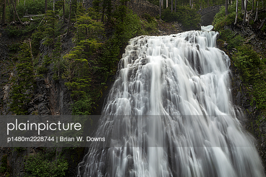 Narada Falls, Mount Rainier National Park, USA - p1480m2228744 by Brian W. Downs