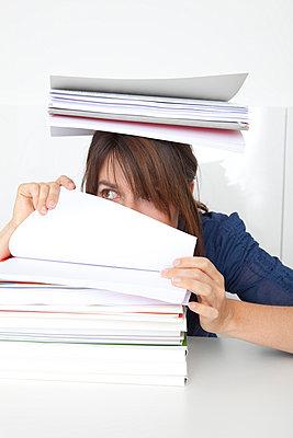 Woman working too much - p4541008 by Lubitz + Dorner