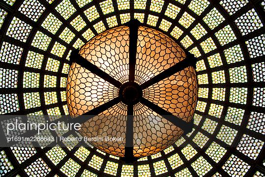 Chicago cultural center lamp - p1691m2288643 by Roberto Berdini Bokeh
