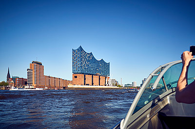 Elbe Philharmonic Hall from the waterside - p851m1573510 by Lohfink