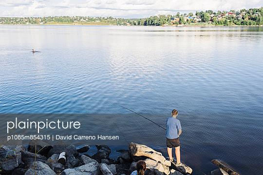 Angeln am Kamastausee - p1085m854315 von David Carreno Hansen