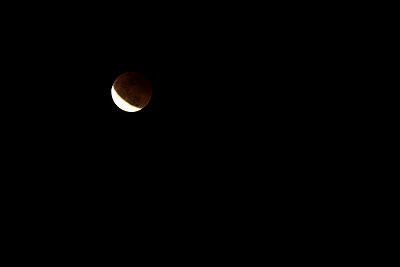 A lunar eclipse as seen from the Blue Ridge Parkway north of Asheville - p3433712 by Harrison Shull