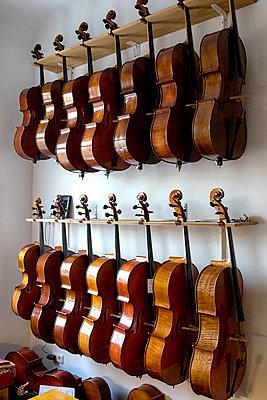 Celli beim Geigenbauer - p1212m1203240 von harry + lidy