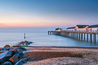 Southwold Pier, Southwold, Suffolk, England, United Kingdom, Europe - p871m1480359 by Alan Copson