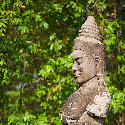 South Gate to Angkor Thom - p871m757417 by Andrew Stewart