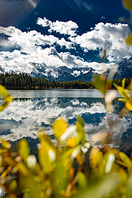 Dramatic clouds at Herbert Lake in Canada - p1455m2092366 by Ingmar Wein