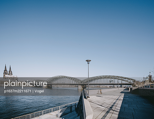 Hohenzollern Bridge and Cologne Cathedral - p1637m2211671 by Vogel