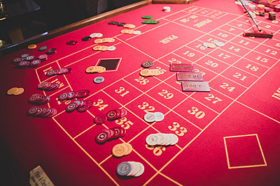 Roulette table - p1345m2055619 by Alexandra Kern