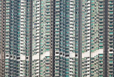 China, Hongkong, Lantau Island, Tung Chung, high rise residential buildings - p300m911266f by Gaby Wojciech