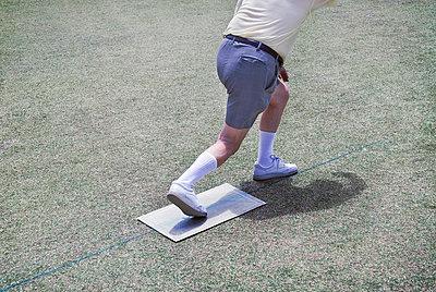 Lawn bowler's torso - p1125m917389 by jonlove