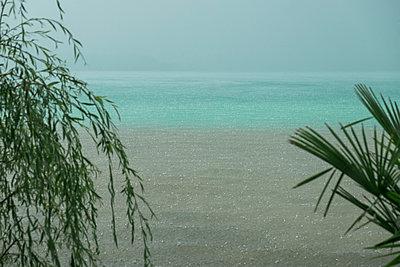 Rainy day by the sea - p1437m2008231 by Achim Bunz