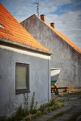 House exterior and part of boat - p312m1471191 by Jan Tove