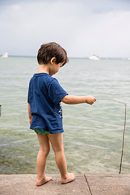 Fishing - p535m1051244 by Michelle Gibson