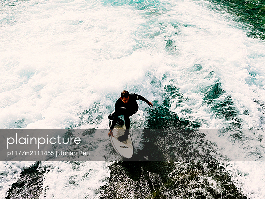 River surfing - p1177m2111455 by Philip Frowein