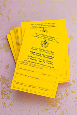 Stapel Impfpässe - p454m2263172 von Lubitz + Dorner