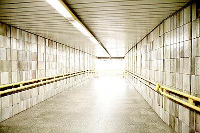 Empty Subway Corridorl, Prague, Czech Republic - p6944707 by Noll Images