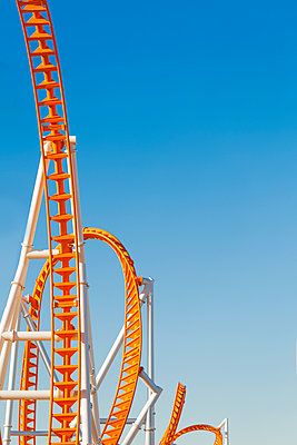 Roller coaster on summer day - p1280m1585978 by Dave Wall