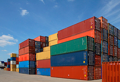 Container at a harbour - p7920032 by Nico Vincent