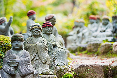 Statues in Daisho-in Buddhist temple, Miyajima Island, Hiroshima Prefecture, Honshu, Japan, Asia - p871m962064 by Christian Kober