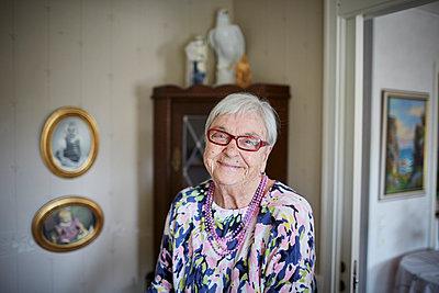 Portrait of senior woman - p312m1054709f by Jan Tove