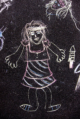 Chalk drawing - p6280595 by Franco Cozzo
