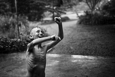Fun in the rain - p1169m1463497 by Tytia Habing