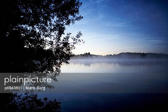 Mist Over Lake, Halsingland, Sweden - p6943801 by Måns Berg