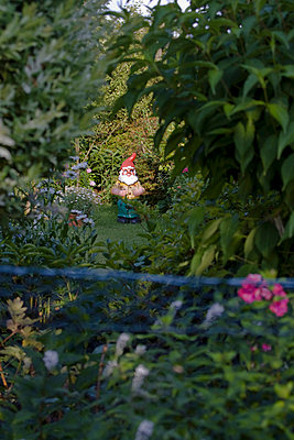 Gnome in a garden - p7920056 by Nico Vincent