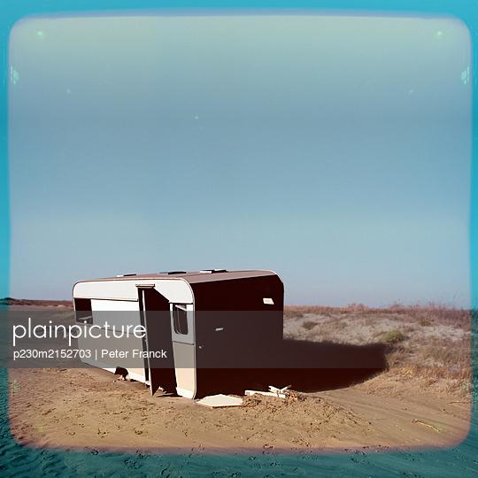 France, Abandoned caravan - p230m2152703 by Peter Franck