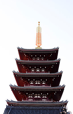Low Angle View of Senso-ji Buddhist Temple, Asakusa, Tokyo, Japan - p694m2200726 by Maria K