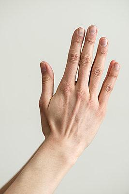 Folded hands of woman - p1041m1042351 by Franckaparis