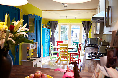 Interior Of Apartment Showing Kitchen And Dining Areas - p1407m1507597 by Monkey_Images