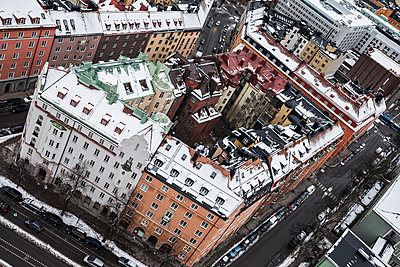 City buildings at winter - p312m1139696 by Peter Rutherhagen