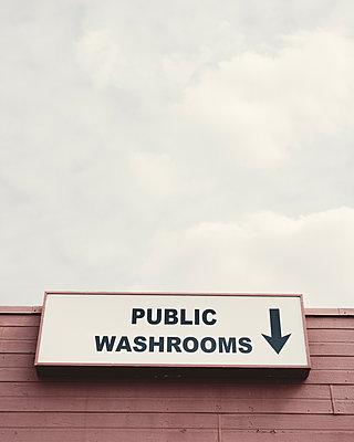 Public Washroom Sign - p1335m1492058 by Daniel Cullen
