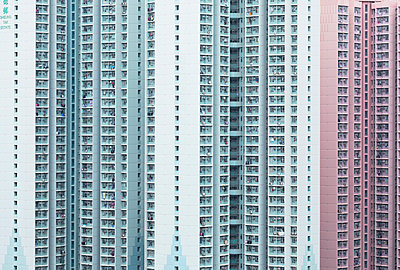 Apartment blocks, Hong Kong - p651m2152248 by Ian Trower